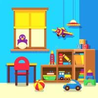 Preschool Kindergarten Classroom With Toys Cartoon Vector ...