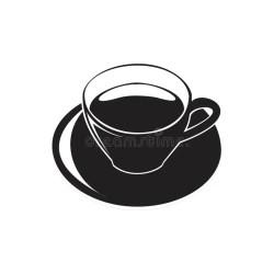 silhouette symbol cafe tea cup illustrations coffee restaurant