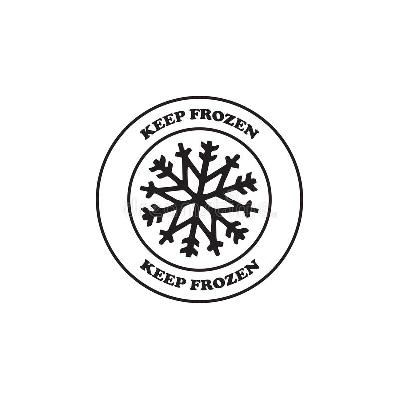 Keep Frozen Food Packaging Label Badge Stock Vector