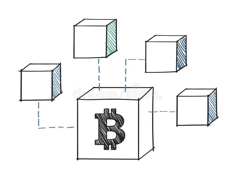 Digital Success Diagram Blocks Stock Illustration