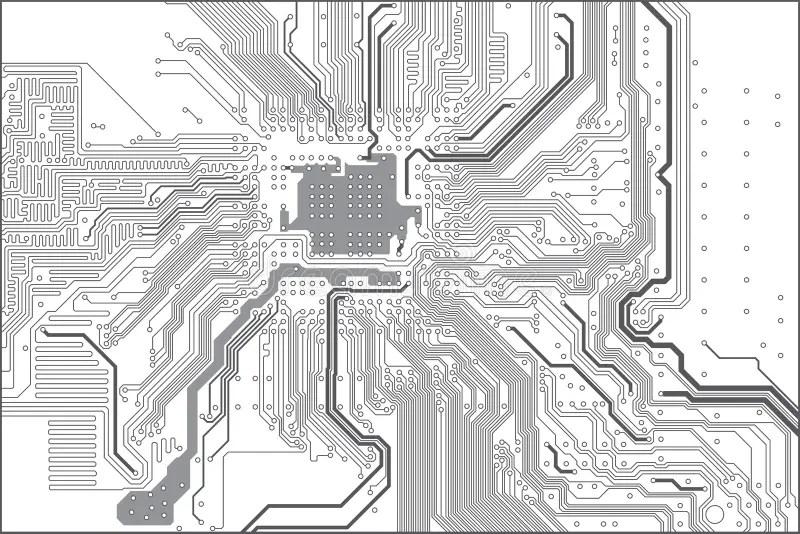 Printed Circuit Board Stock Vector