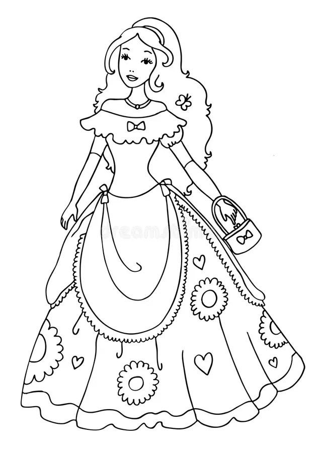 Prinzessin Coloring Page stock abbildung Illustration von