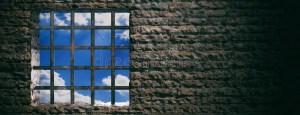 prison jail bars window prigione della interior barre dark cell illustrazione fondo sky fond mattoni muro roestige blauwe gevangenis hemelmening