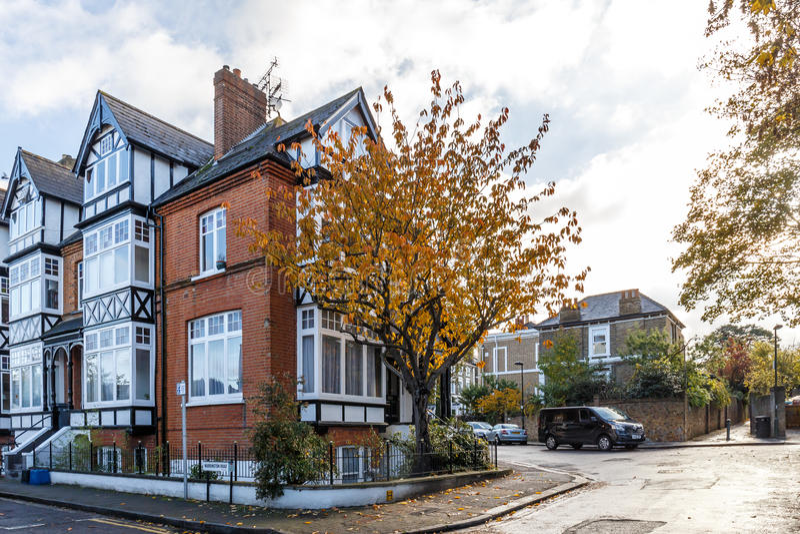 Priv Huis In De Voorstad Van Richmond Van Londen In De