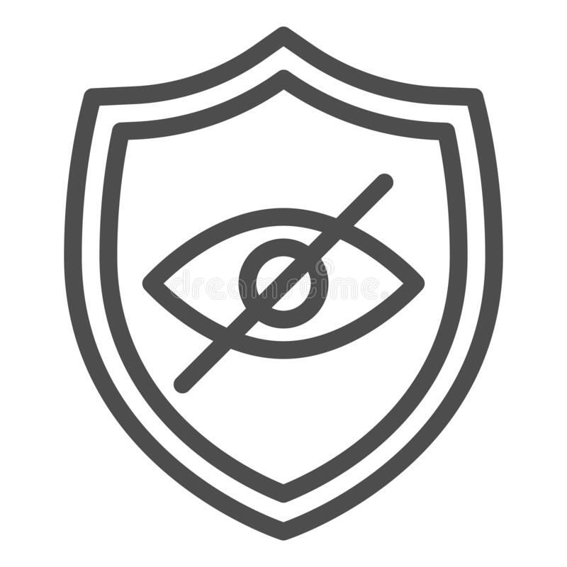 Safe Website Icon. Protection Symbol. Stock Vector