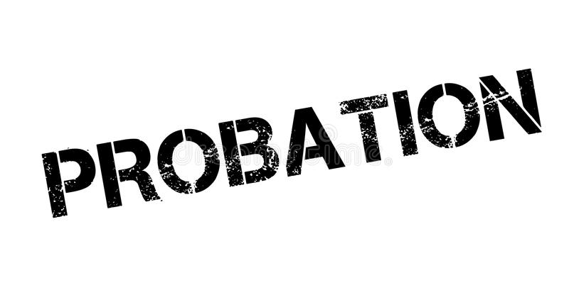 Probation rubber stamp stock vector. Illustration of