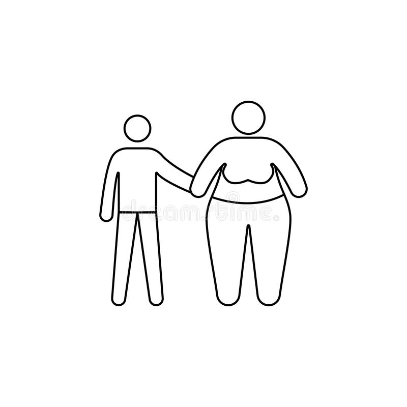 Thin Fat Child Stock Illustrations