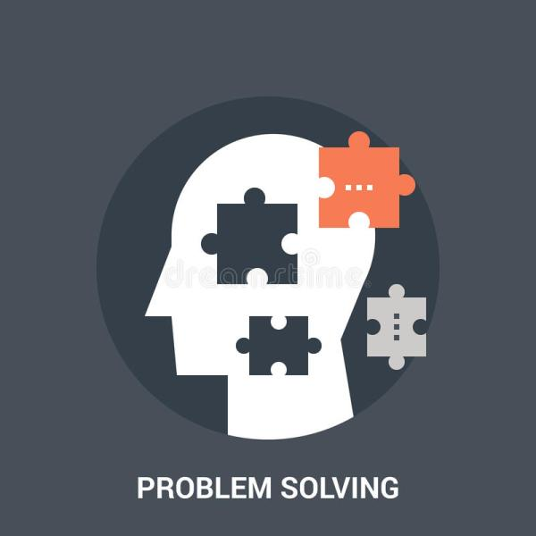 Maze And Problem Solving Flat Icon Concept Stock Vector