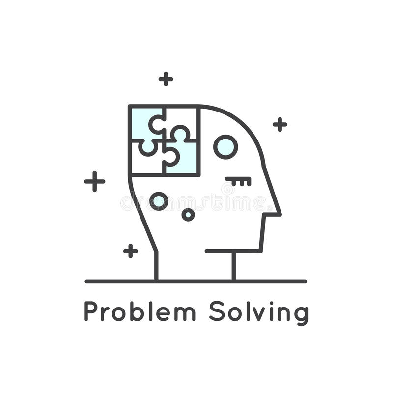 Problem Solving Icon stock illustration. Illustration of