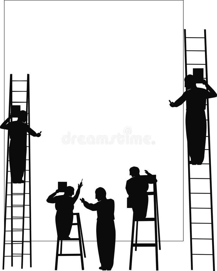 Problem solving silhouette stock vector. Illustration of