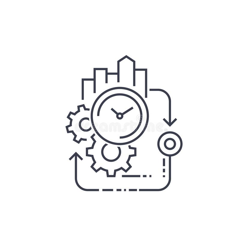 Manufacturing cycle stock illustration. Illustration of