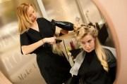 professional hair stylist work