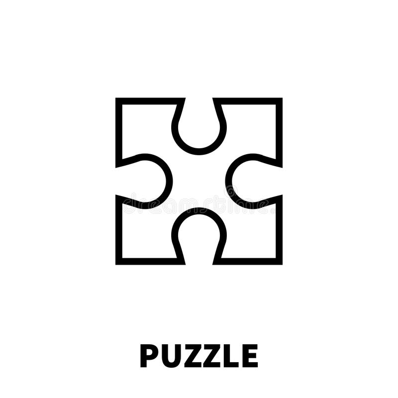 Puzzle Icon Or Logo In Modern Line Style. Stock Vector
