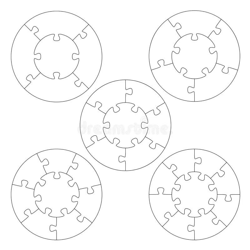 16 Piece Puzzle Template