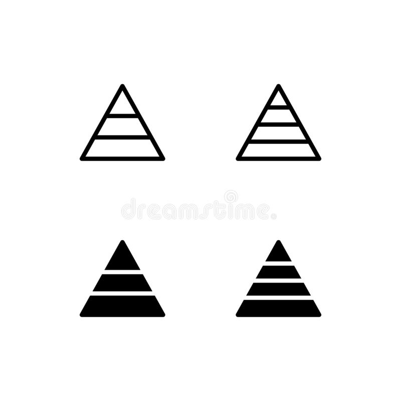 Process Triangle Diagram stock vector. Illustration of