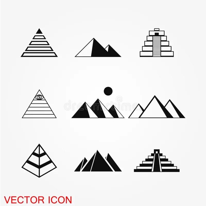 Vector Pyramid Five Levels, 3d Illustration Stock Vector