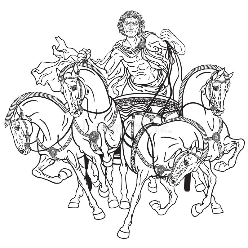 Racing horse with jockey stock vector. Illustration of