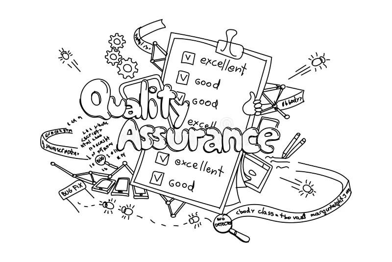 Quality assurance stock illustration. Illustration of