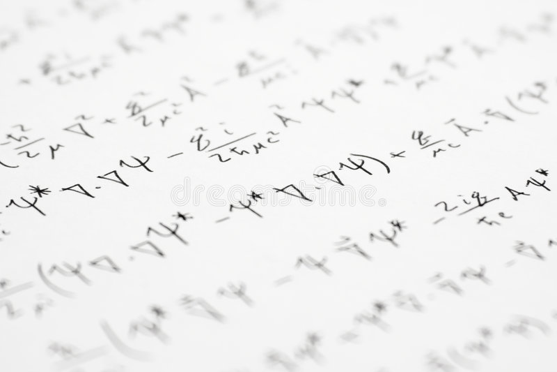 Quantum mechanics stock photo. Image of calculate, sheet