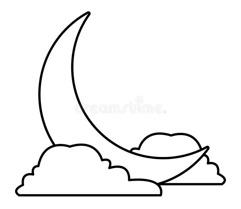 Quarter Moon Button Orb stock illustration. Illustration