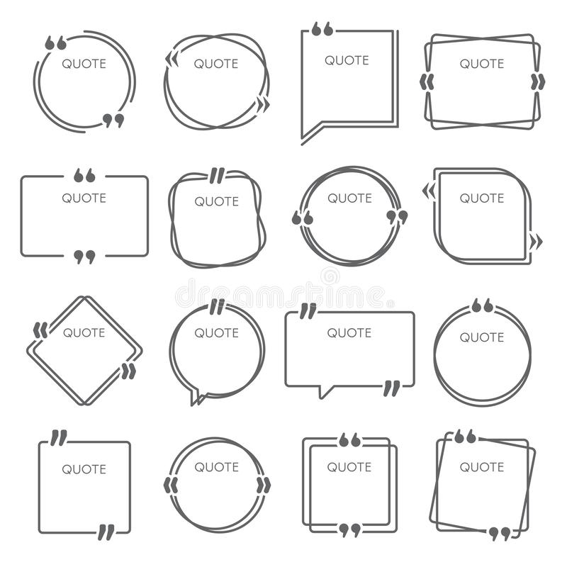 Quote set stock vector. Illustration of discussion