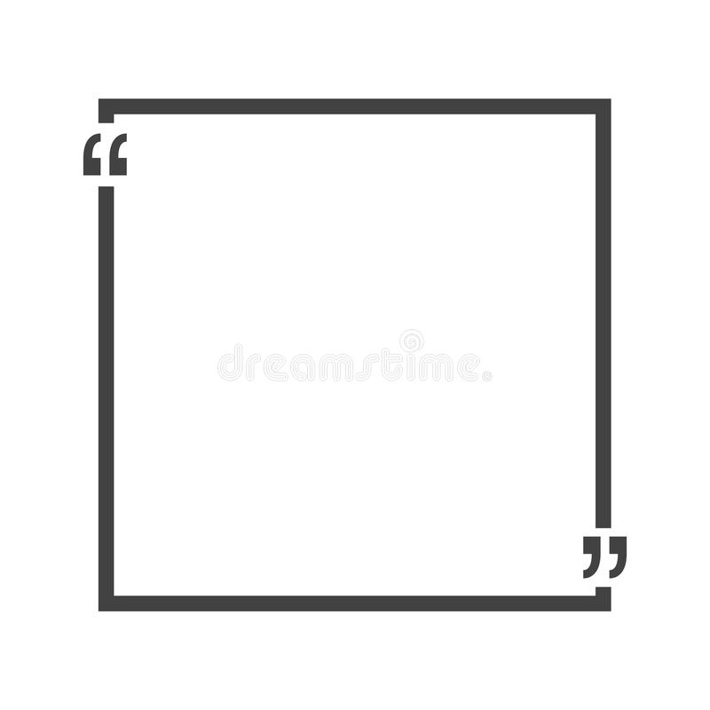 Quote Bubble Blank Templates. Empty Business Card, Paper