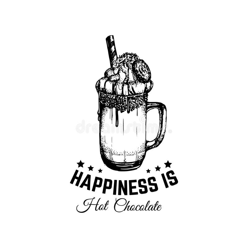 Quote Typographical Background About Hot Chocolate Stock