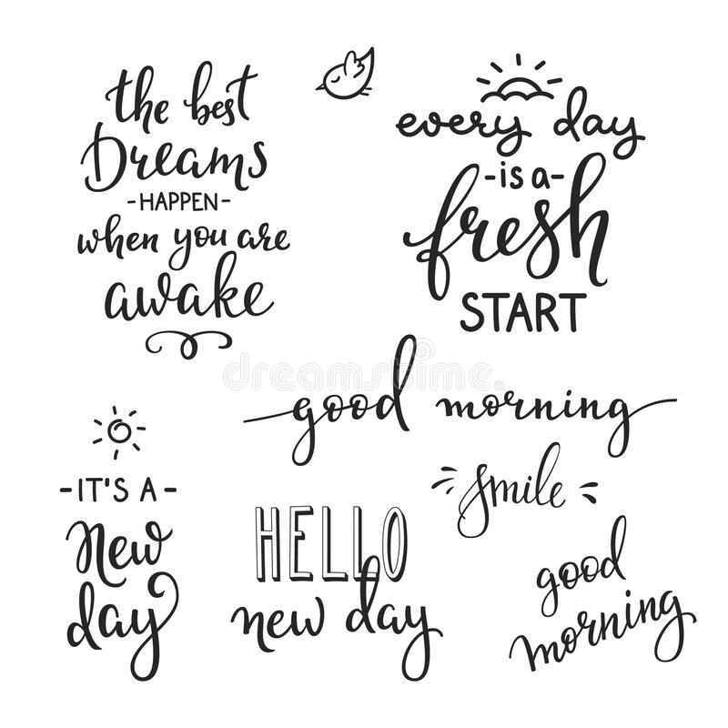 Quotes Motivation For Life And Happiness Morning Stock