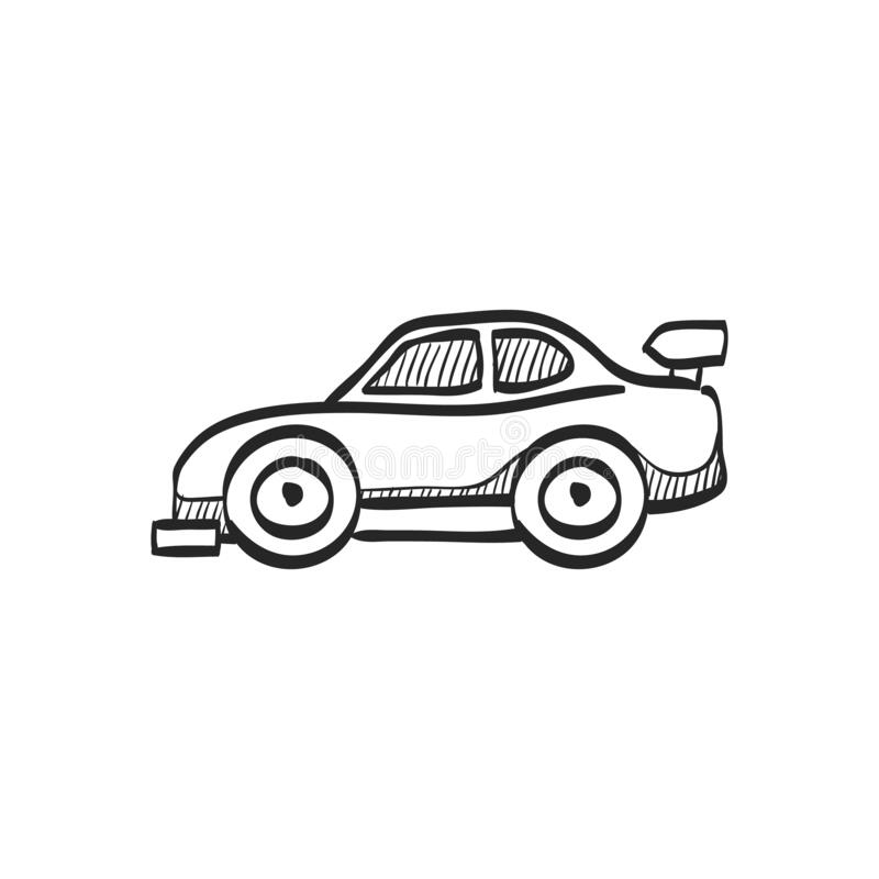 Car Drawn Race Sport Stock Illustrations
