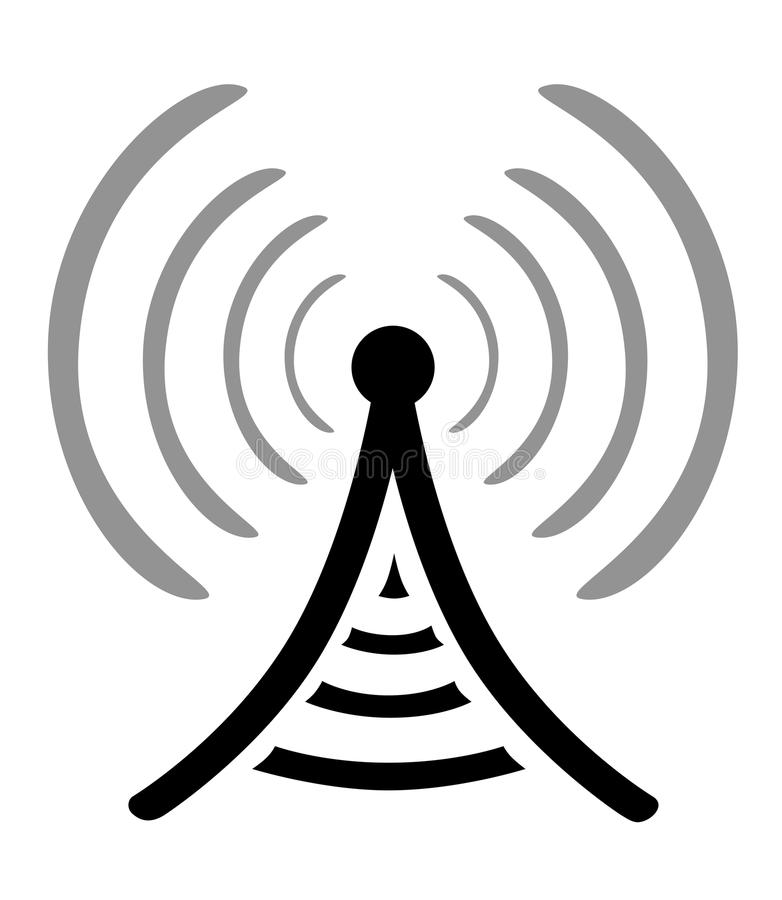 Radio antenna symbol stock illustration. Illustration of