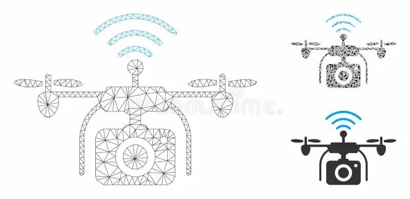 Drone Radio Control Cartoon Drawing Stock Vector