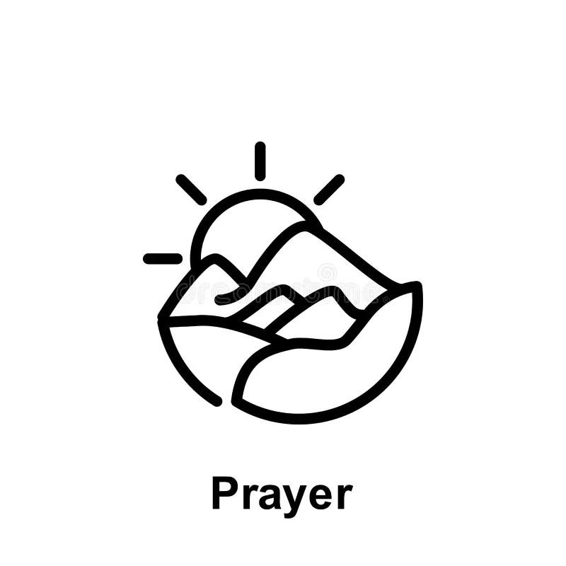 Islamic prayer signs stock illustration. Illustration of