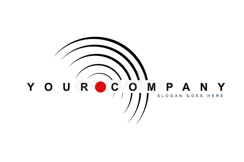 Record Label Logo stock illustration. Illustration of