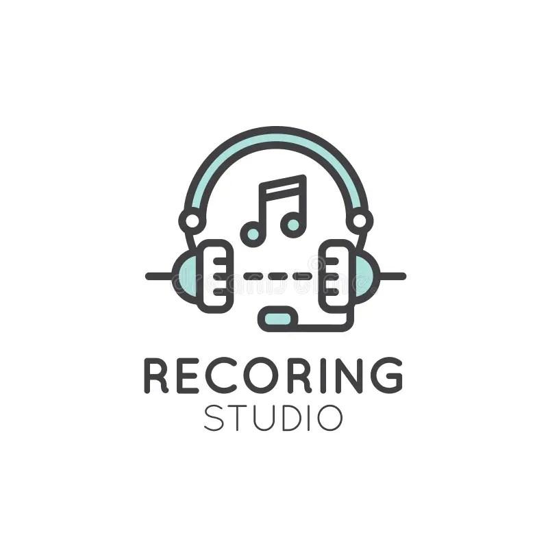 Recording Studio Label stock illustration. Illustration of