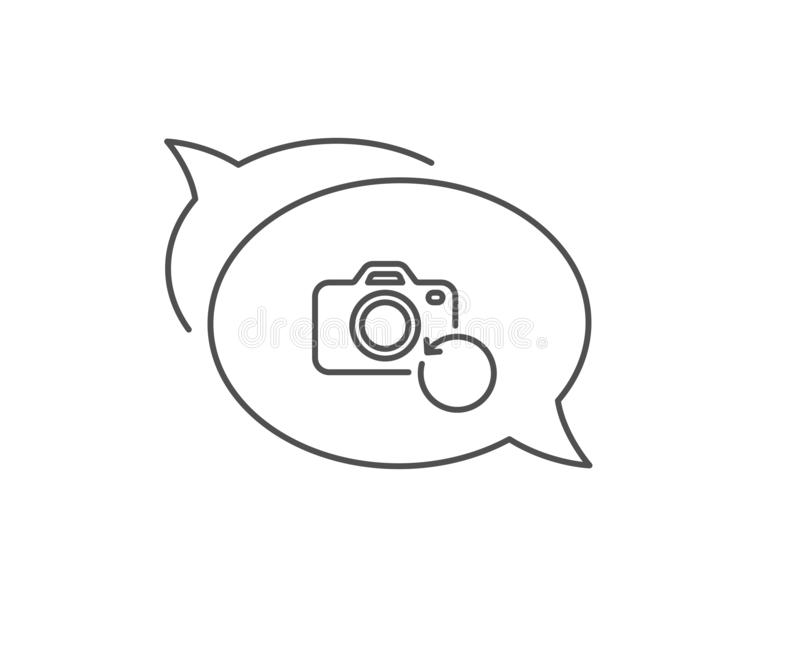 Photo Camera Icon. Flash Light And Selfie Frame. Stock
