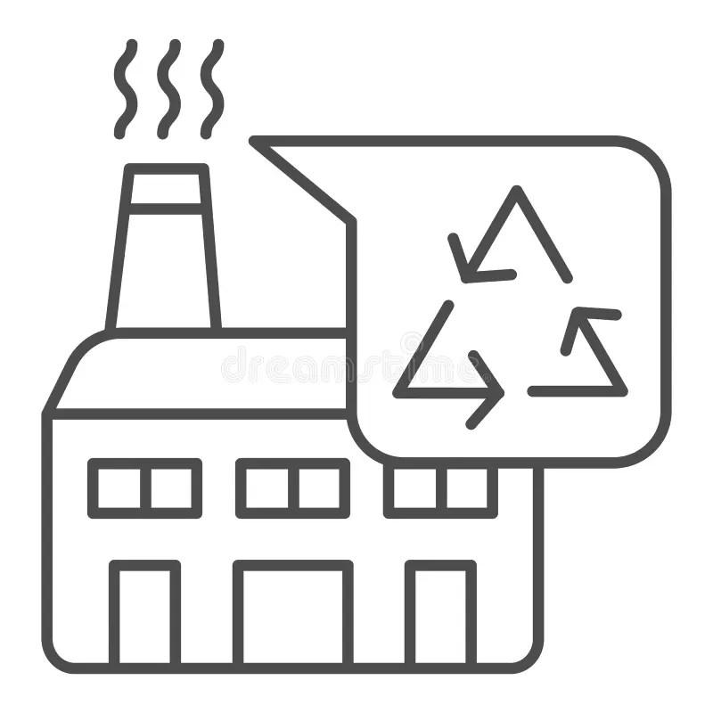 Factory plant design stock vector. Illustration of labor