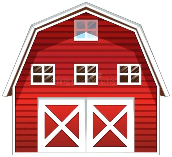 red barn house stock illustration
