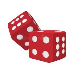 Red dice cartoon icon stock illustration Illustration of odds 125365436