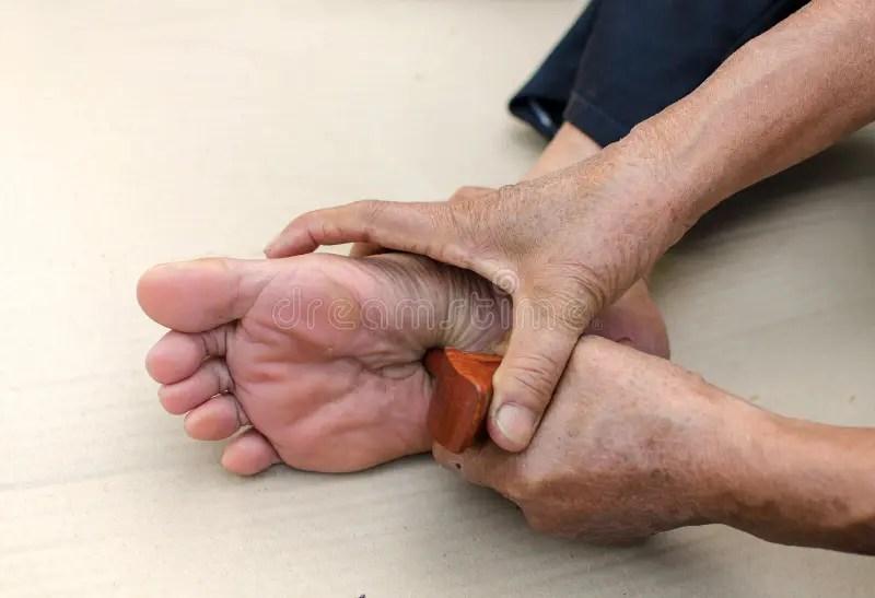 Reflexology Foot Massage Spa Treatment Yourself Stock ...