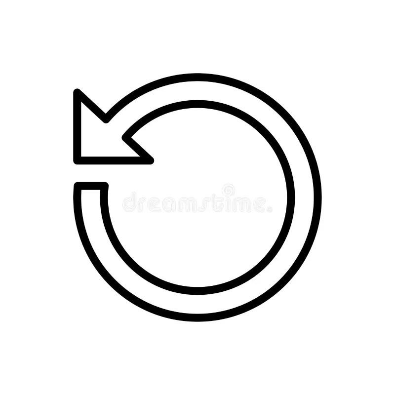 Refresh Icon Flat Vector Template Design Trendy Stock