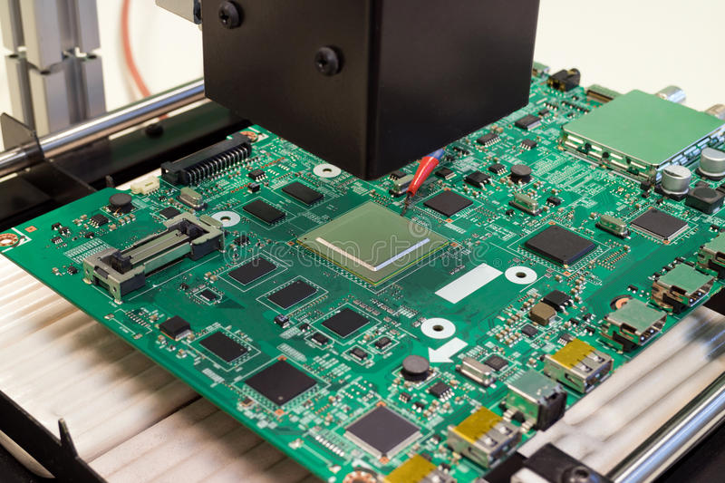 Repair Electronic Circuit Board On Infrared Rework Station