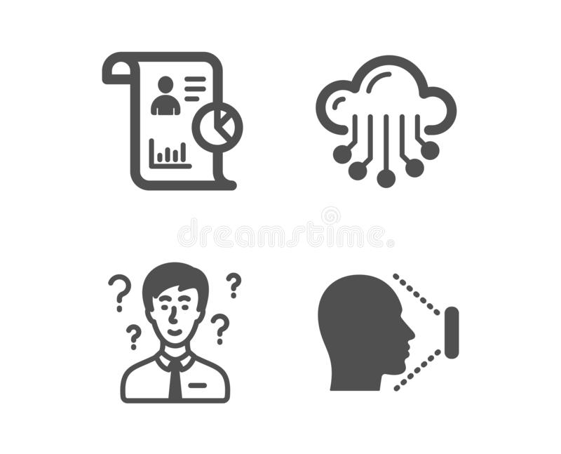 Support Consultant, Idea And Quick Tips Icons Set. 360