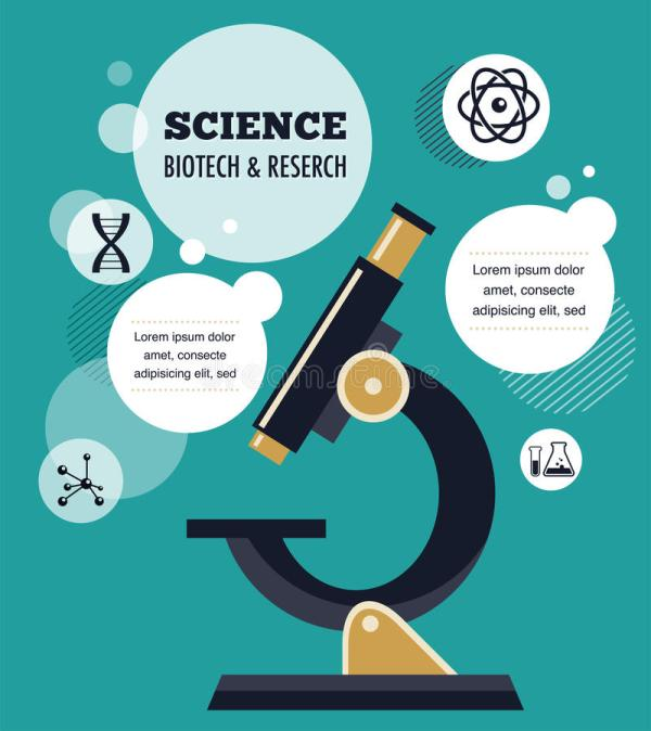Bio Technology And Science Infographic Stock