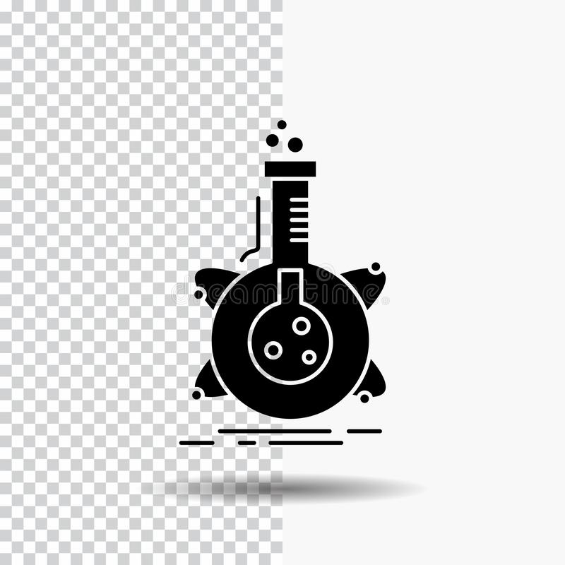 Chemical Laboratory Transparent Flask Icon Stock Vector