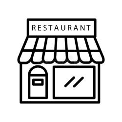 Restaurant Icon Vector Isolated On White Background Restaurant Sign Line Or Linear Sign Element Design In Outline Style Stock Vector Illustration of dish plate: 134652822