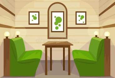 restaurant cafe table vector room della cartoon interior rum vektor foer cartoons inre binnenland illustrazione illustratie royalty binnenlandse zaal restaurantlijst