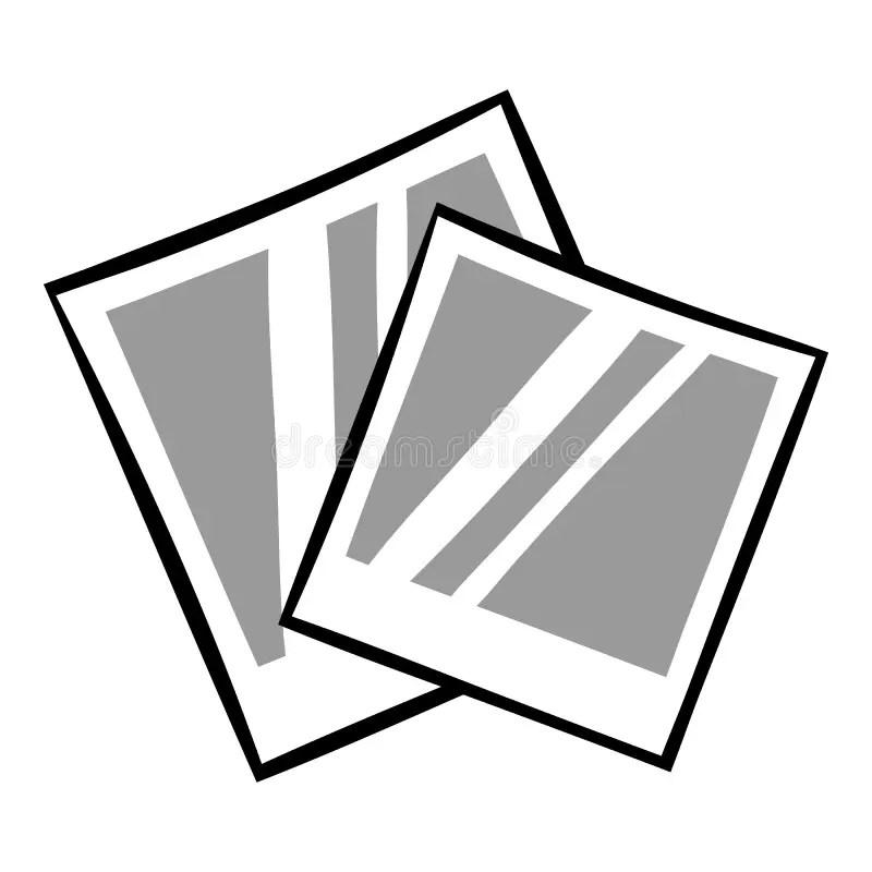 Retro Photo Frame Polaroid Icon Cartoon Stock Vector