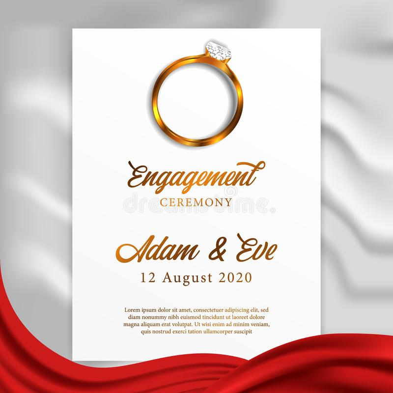 3d golden ring engagement ceremony