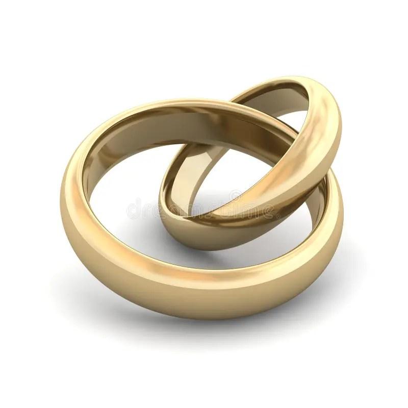 Ringe Der Goldenen Hochzeit Stock Abbildung  Illustration von wei nachricht 9318333