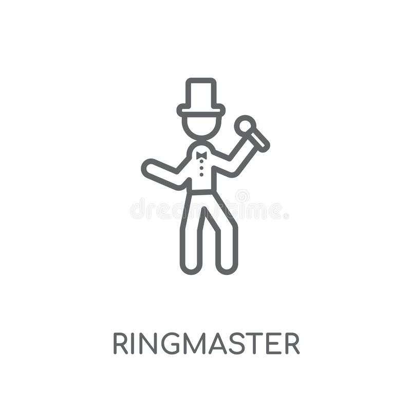 Ringmaster stock vector. Illustration of drawing